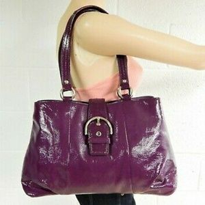 Coach Patent Leather Purple Soho Carry All Bag
